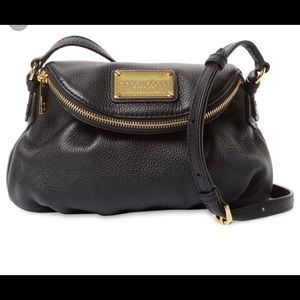 Marc Jacobs Classic Leather Messenger Bag in Black